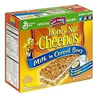 一般的な工場牛乳 ' n シリアルバー蜂蜜ナット チェリオス、ゼネラルミルズによって 8.5 オンス ボックス (6 箱パック) あたり 6 バー General Mills Milk 'n Cereal Bars Honey Nut Cheerios, 6 Bars per 8.5-oz. Box (Pack of 6 Boxes) by General Mills