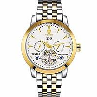 QTMIAO 美しいドレスウォッチ時計 TEVISE 2018トゥールビヨン多機能自動機械式メンズメンズウォッチ (Color : 3)
