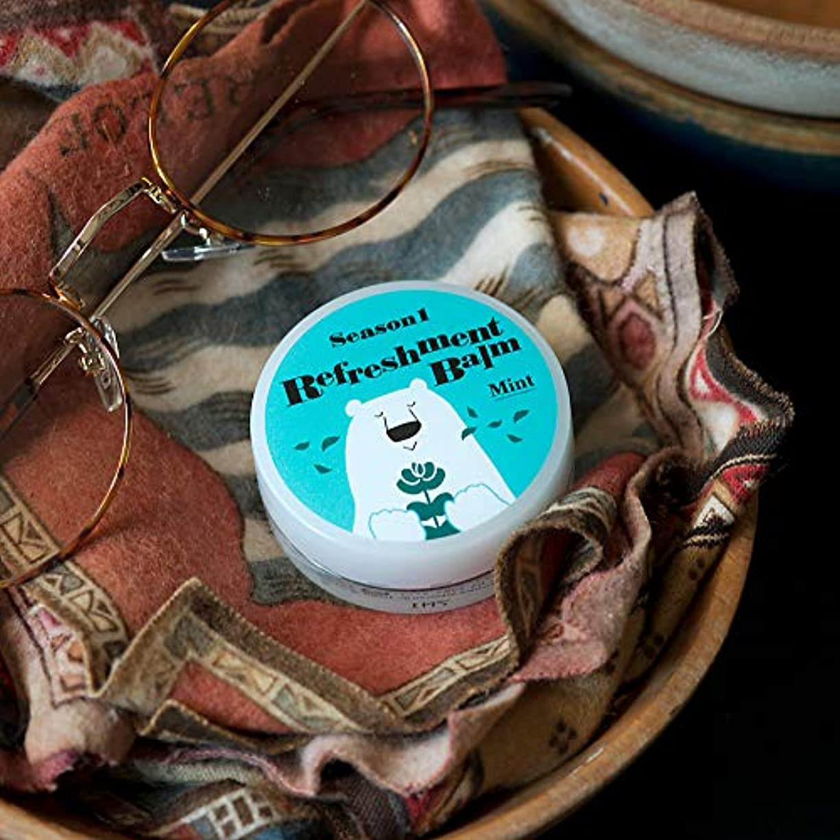 団結するミシン目有効(美健)BIKEN カサカサ鼻にひと塗り リフレッシュメントバーム ミント エッセンシャルオイル(精油)のみで香り付け