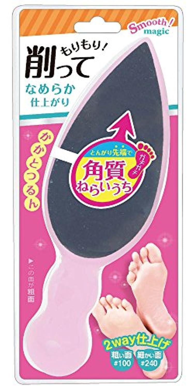 ピボット乳製品ジョガーラッキーウィンク かかとシャインフットファイル(ライトピンク) RQ780
