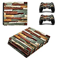 Zhhlaixing ステッカー Vinyl Decal Cover for PlayStatio PS4 Pro Console+Controllers ZY0029#