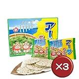 南風堂 沖縄アーサせんべい(3枚×12袋)3箱
