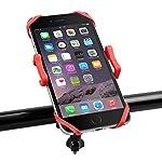 スマホホルダー Elekin 自転車スマホ GPSナビ・スマホ・iPhone固定用 バイクホルダー 自転車ホルダー バイクスタンド 自転車スタンド 携帯電話ブラケット360度回転 三重保護 脱落防止