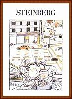 ポスター ソウル スタインバーグ 無題 1982年 額装品 ウッドハイグレードフレーム(ナチュラル)