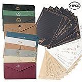 shiyi アンティークレターセット封筒20枚 便箋3色24枚 メッセージカード封筒付き 手紙 お礼 人気 お祝い
