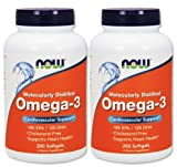 OMEGA 【バリュー2本セット】[海外直送品] NOW Foods 【お得サイズ】オメガ3 1000mg 200粒 Omega-3 200softgels