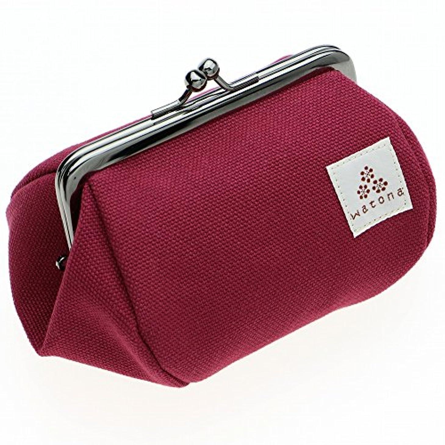 恵みどれ簡略化するwatona 帆布がま口 化粧ポーチ 3.5寸Sサイズ