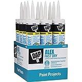 DAP Inc 18425 10.1 oz. Alex Fast Dry Acrylic Latex Caulk Plus Silicone White (12 Pack)