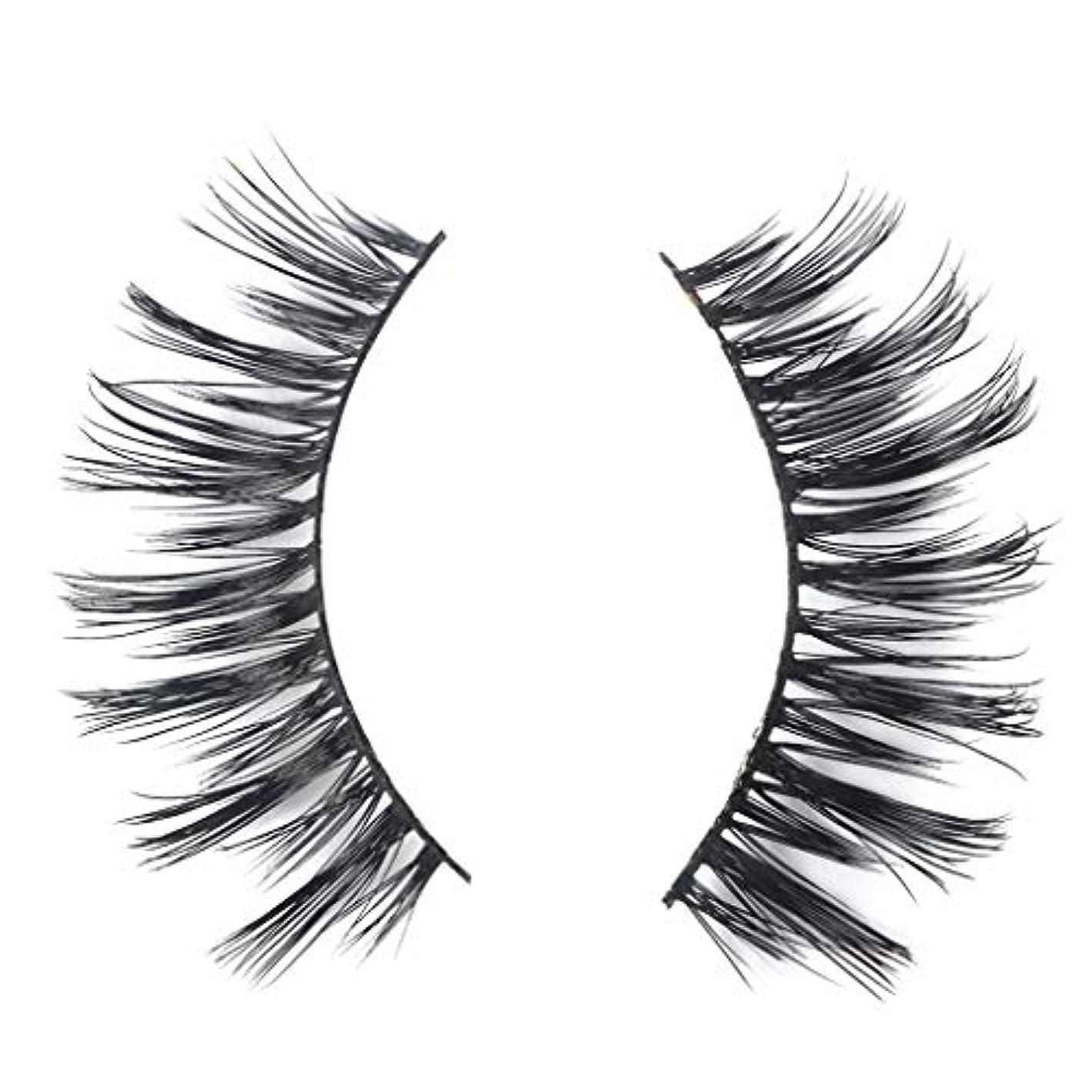 印象派震え夫婦ミンクの毛の自然な厚くなる化粧品の3D版のための一組のまつげ