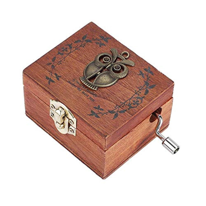 Akozon 木製ハンドクランクオルゴール メカニカルクラシッククラフト 誕生日ギフト 1個 Akozonod6un7m0yq-04
