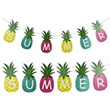 (Summer,multi-color) - Summer Pineapple Banner Hanging Decor Hawaiian Party Decorations, 1.5m,Multi-colour