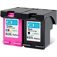 生きカラー HP 61XL インクカートリッジ 黒 カラー3色一体 増量 CH564WA CH563WA HP61 リサイクル インク HP ENVY 5530 インクENVY 4500 インク ENVY 4504 インク Officejet 4630 インク (2色セット 【BK CL】)