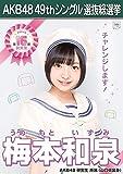 【梅本和泉 AKB48 研究生】 AKB48 願いごとの持ち腐れ 劇場盤 特典 49thシングル 選抜総選挙 ポスター風 生写真