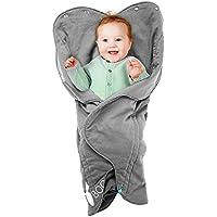 Wallaboo - Babynomade Couverture enveloppante Fleur- Universelle Multi-Usages Gris