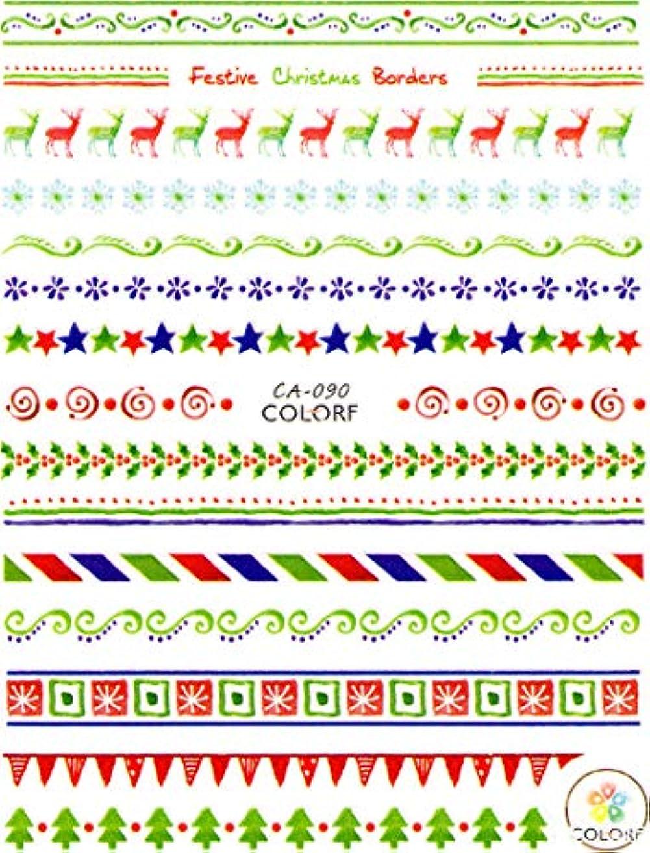 安西道に迷いました偏心極薄 ネイルシール クリスマス スノー サンタ デコやレジン、アルバム制作などに (07-C55)