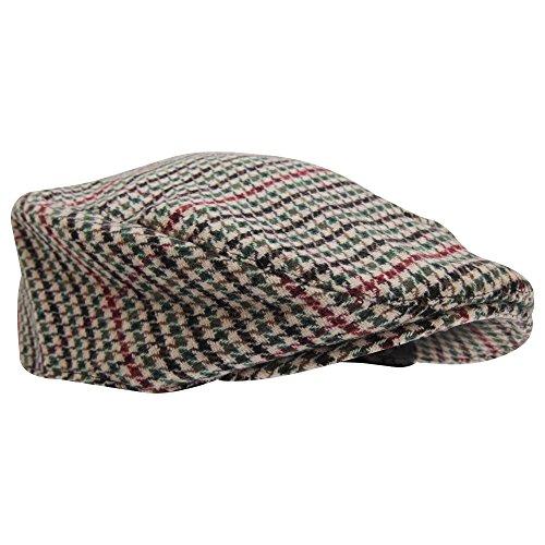 メンズ ツイード ウールブレンド ハンチング フラットキャップ 帽子 ハット 冬 男性用 (L/XL(約60cm)) (デザイン4)