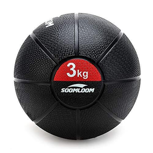 Soomloom ラバー製メディシンボール スラムボール メディシンボール トレーニング 筋力トレーニング 有酸素運動 エクササイズ