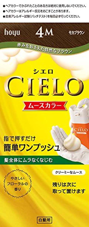 メッシュ浸したトマトホーユー シエロ ムースカラー 4M (モカブラウン) 1剤50g+2剤50g