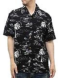 (ルーシャット) ROUSHATTE アロハシャツ 半袖 大きいサイズ シャツ レーヨン ハイビスカス 10color 3L 柄4