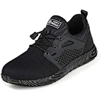TQGOLD Safety Shoes for Men Steel Toe, Work Shoes for Men and Women Footwear Industrial and Construction Shoes, Summer Breathable Lightweight Sneakers