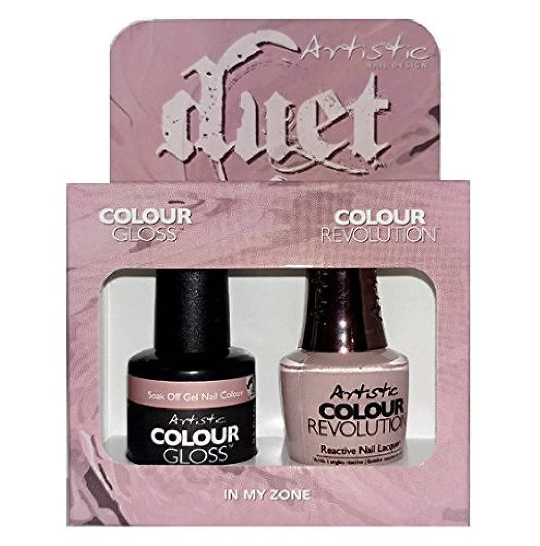 永久繁雑インチArtistic Nail Design - Duet Gel & Polish Duo - In My Zone - 15 mL / 0.5 oz each
