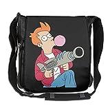 HERMES 財布 財布 FuturamaフィリップJフライブラック調節可能なショルダーバッグ One Size