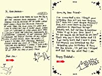 Quiplip Handwritten Yours Truly Birthday Cards 6-Pack (YT04076PCK) [並行輸入品]