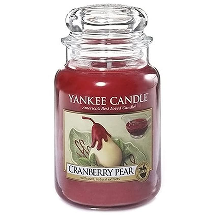 効率十分困惑Yankee Candle Large Jar Candle, Cranberry Pear by Yankee [並行輸入品]