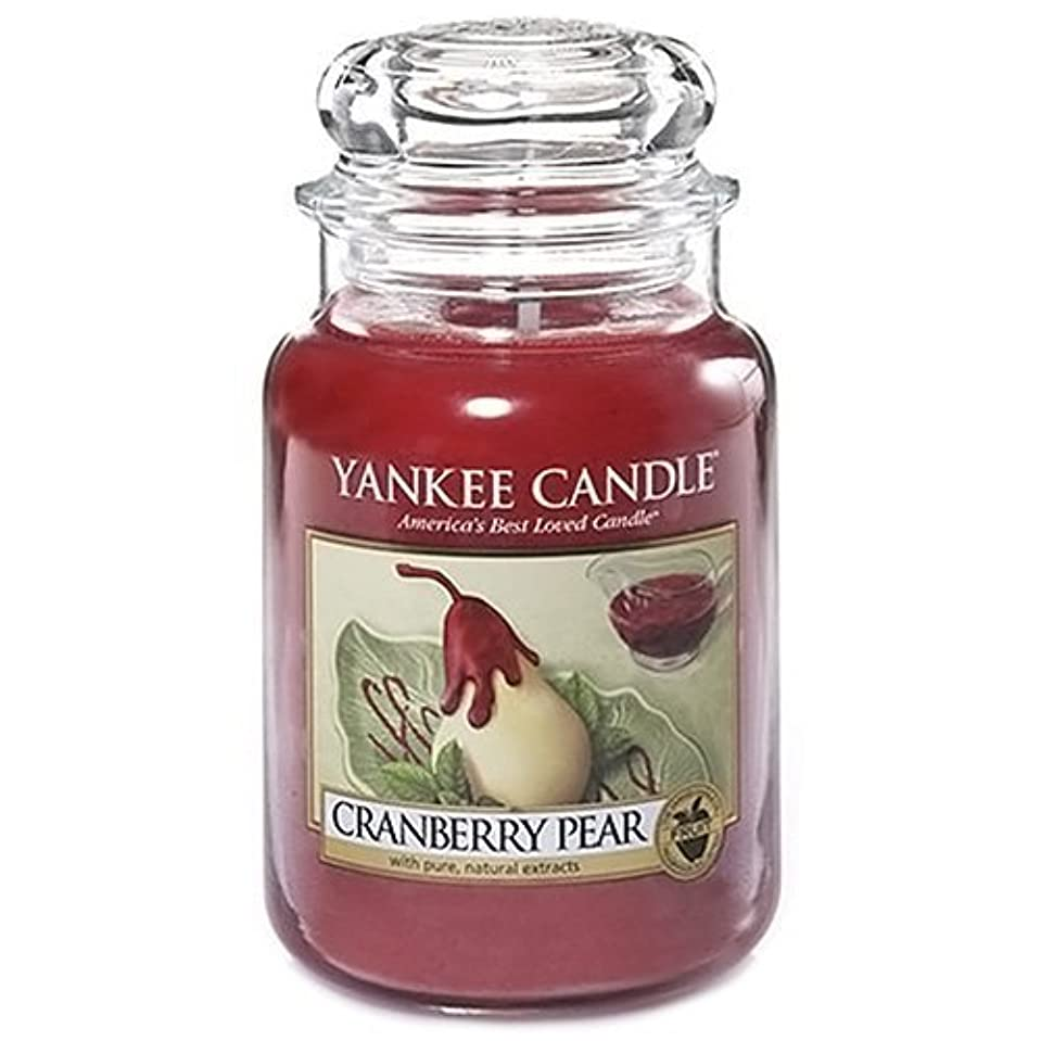 ホップオアシス学生Yankee Candle Large Jar Candle, Cranberry Pear by Yankee [並行輸入品]