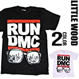 (リトルウッド) LittleWood HIPHOP RUN DMC ロゴ プリント 半袖 ロック tシャツ [T477] メンズ レディース ヒップホップ tシャツ
