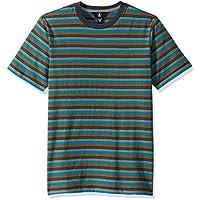 Volcom Big Boy's Baywood Striped Short Sleeve Shirt