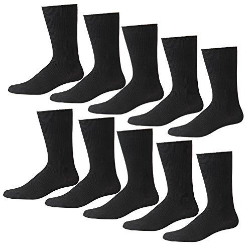 ハンエイスアイス ビジネスソックス 抗菌防臭 25-27cm 靴下 リブ柄 メンズ 10足セット