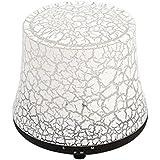 エッセンシャルオイルディフューザー超音波ミュート加湿器芳香ランプ空気浄化7色LEDナイトライト (色 : Dark wood grain)