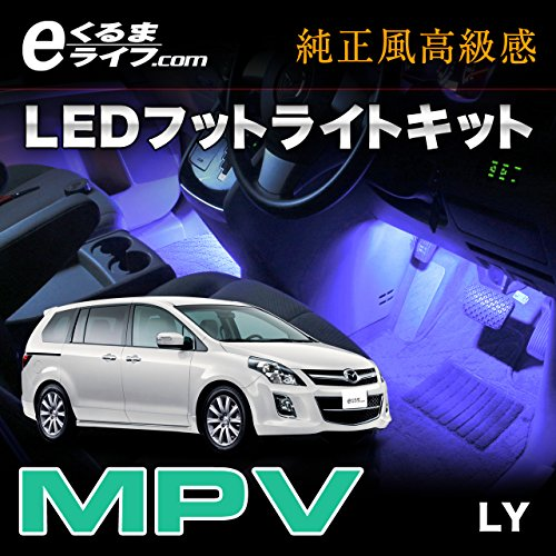 e-くるまライフ  イルミネーション MPV(LY)専用LEDフットランプキット ek306