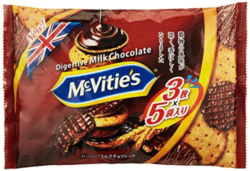 明治 マクビティミルクチョコレート袋 15枚入