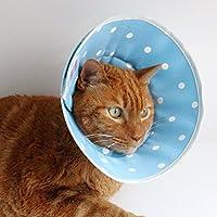 nekozuki エリザベスカラー フェザーカラー ドット サックス SSロング ソフト 猫