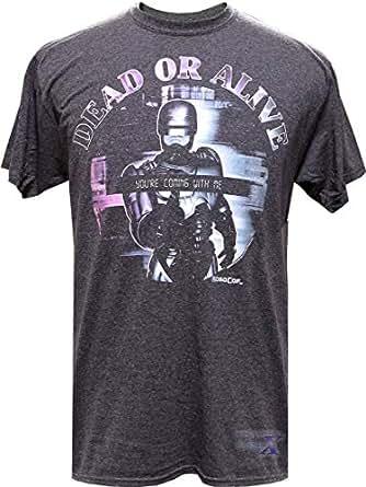 ロボコップ米国公式製品メンズTシャツ(デッド・オア・アライブ) (S)