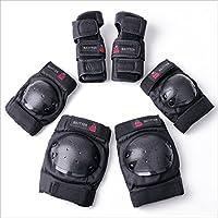 BAYTTER キッズプロテクター 3点セット 膝パッド 肘パッド 手首ガード 強化プラスチック スケートボード ローラースケート 子供用/大人用