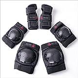 BAYTTER キッズプロテクター 3点セット 膝パッド 肘パッド 手首ガード 強化プラスチック スケートボード ローラースケート 子供用