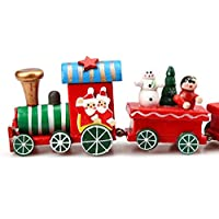 教育おもちゃ、列車baomabao 6ピース/セット木製クリスマスクリスマス装飾装飾ギフト