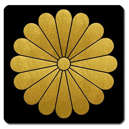 家紋シール 本願寺顕如 十六葉菊 4cm x 4cm 4枚セット KS44-3635-09