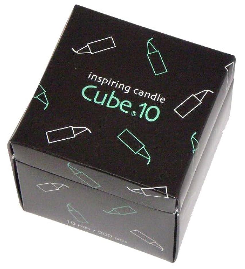 お肉音楽を聴くケーブル東海製蝋のろうそく Cube.10 200本入 10分