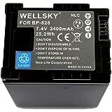 【WELLSKY】 ● CANON キヤノン ● BP-828 互換バッテリー●純正充電器で充電可能 残量表示可能 純正品と同じよう使用可能● iVIS HF G40 / XA20 / XA25 / HF G20
