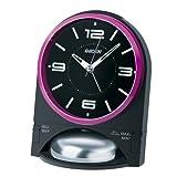 SEIKO CLOCK (セイコークロック) 目覚まし時計 アナログ 大音量 切替式アラーム PYXIS (ピクシス) RAIDEN (ライデン) 黒 NR436K