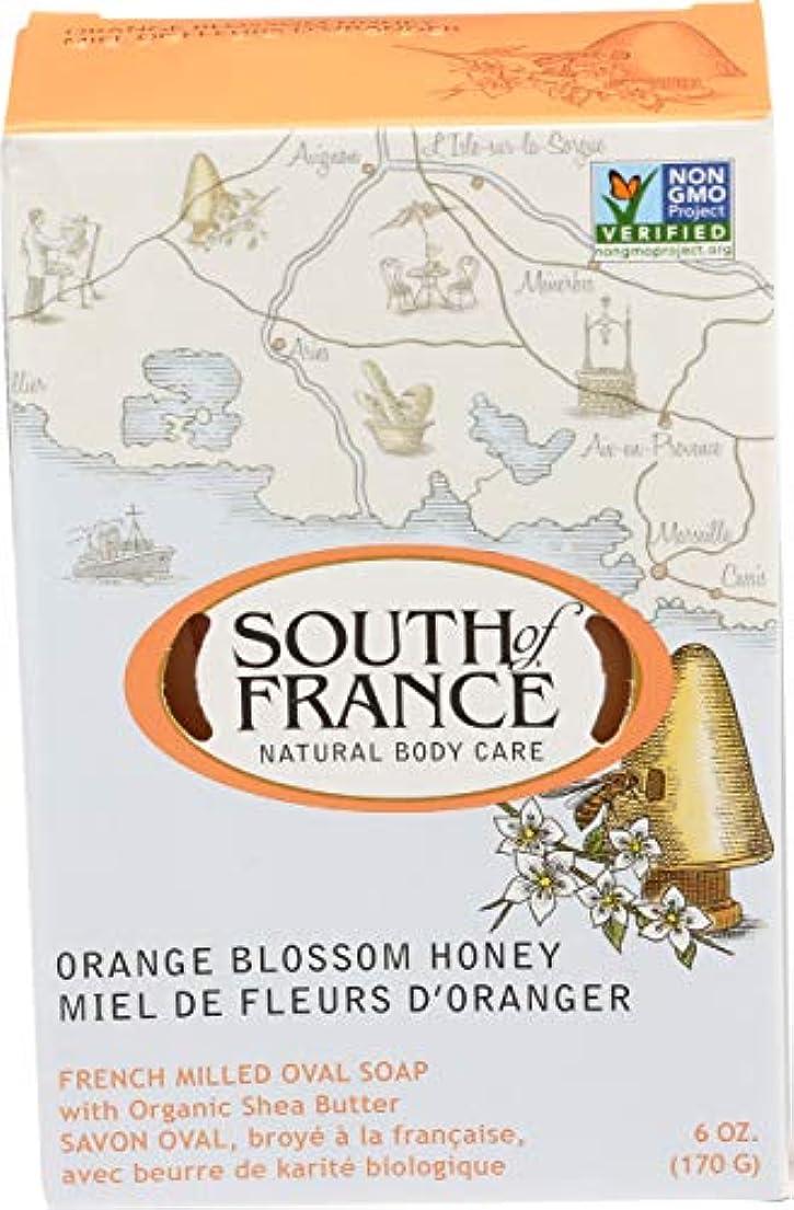 関連付ける引き潮組み立てるSouth of France - フランスの製粉された野菜棒石鹸のオレンジ花の蜂蜜 - 6ポンド