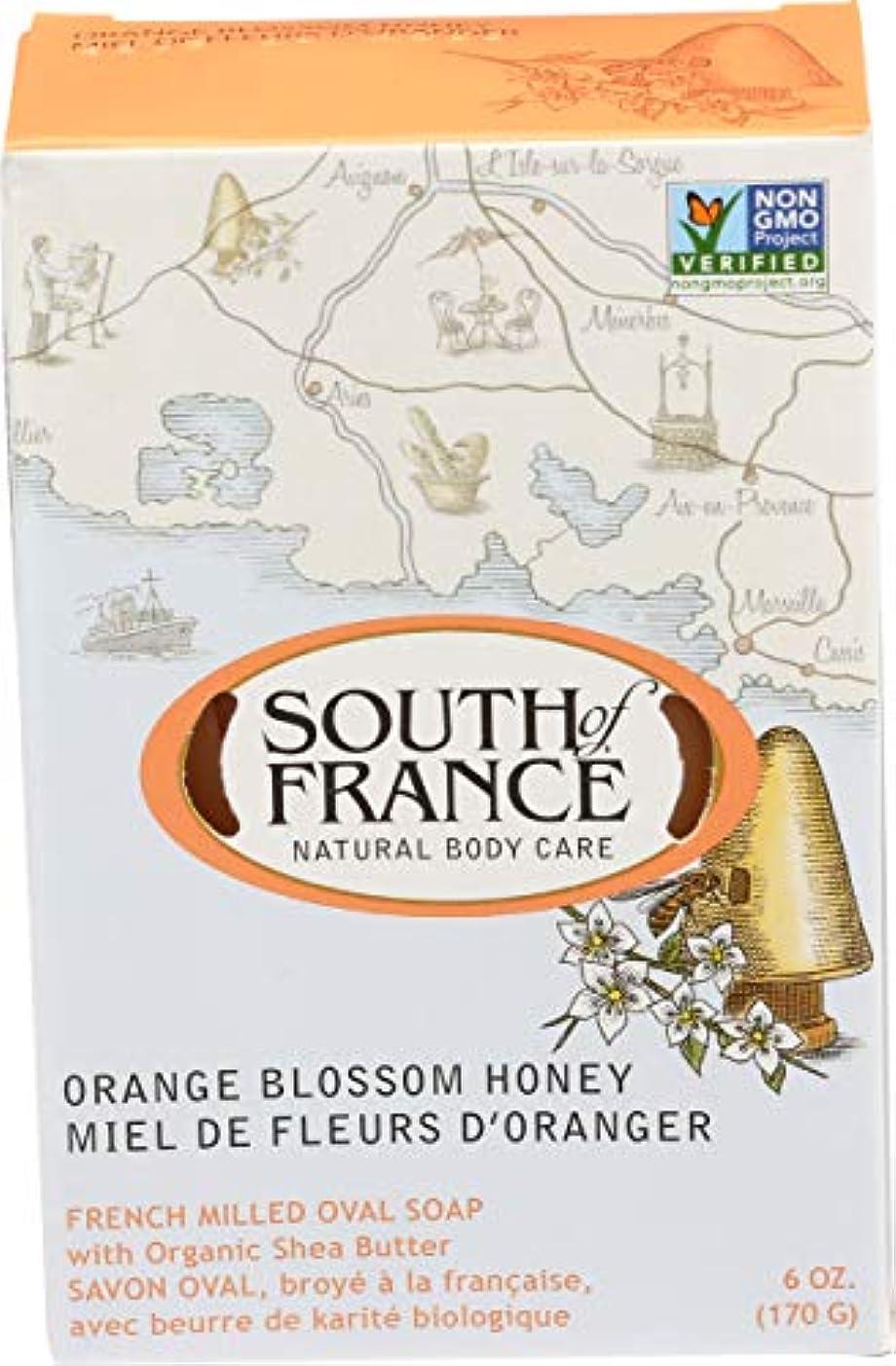 鏡トーンかんたんSouth of France - フランスの製粉された野菜棒石鹸のオレンジ花の蜂蜜 - 6ポンド