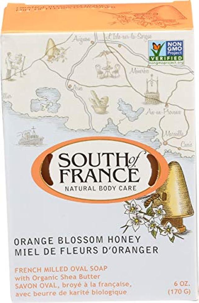 カロリーポスターショルダーSouth of France - フランスの製粉された野菜棒石鹸のオレンジ花の蜂蜜 - 6ポンド