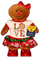 Build a Bear Gingerbread Girl 2pc。Outfit Red Sparkle靴16in。Stuffed Plush Toy Set