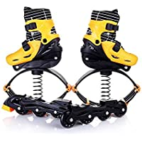Adults Women Men Anti-Gravity Running Boots Bounce Shoe Jumping Shoes Fitness Jumps Boots Kids,Yellow