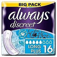 [Always] 翼値パッド16Pkと、常に控えめ長いプラス - Always Discreet Long Plus with Wings Value Pad 16PK [並行輸入品]